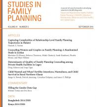 Studies in Family Planning